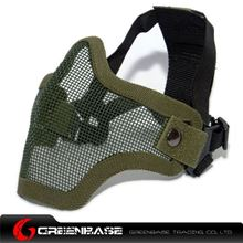Picture of Tactical CM01 Strike Mesh Half Face Mask Green GB10061