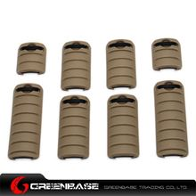 Picture of Unmark Tactical RaiL Covers 8pcs/pack Dark Earth NGA0090