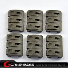 Picture of Unmark Rail Covers 6pcs/Pack with clips for retention of light/laser cables NGA0096