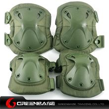 Picture of GB HT Elbow & KNEE Protective Pads Green NGA0340