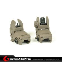 Picture of Unmark Polymer Front & Rear Folding Sights Dark Earth GTA1018