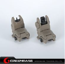 Picture of NB G3 Polymer Front & Rear Folding Sights Dark Earth GTA1020