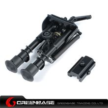 Picture of NB Bipod Extends 6-9 inch Standard Legs Bipod Adjustable With Adjust Key and 20mm Bipod Mount Black NGA1137
