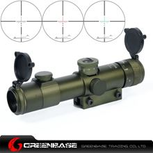 Picture of GB 4x21R Tactical .22 cal. Riflescope For 11mm Rail Pea Green NGA1234