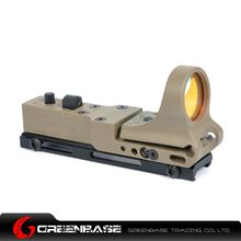 Picture of GB Tactical Railway Reflex Sight Red Dot For 20 Rail Dark Earth NGA1237