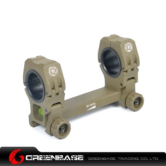 Picture of GB M10 QD-L 1 inch to 30mm Ring with Level Dark Earth NGA1207