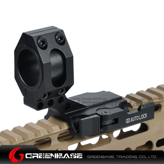 """Picture of NB Tactical Auto Lock Quick Release Cantilever 25mm/30mm Scope Ring 2"""" Of Forward Scope Position Picatinny Weaver QD Mount Black NGA1320"""