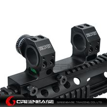 Picture of GB High Accuracy 25.4/30mm Universal One-piece Offset Scope Mount Dual Ring With Angle Cosine Indicator Long Range Shooting Black NGA1367