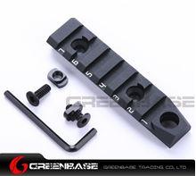 Picture of NB 7 Slots Dual Interface M-LOK Rail Section 3/8'' Qucik Detachable Socket QD Attachment Feature Black NGA1371
