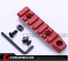 Picture of NB 7 Slots Dual Interface M-LOK Rail Section 3/8'' Qucik Detachable Socket QD Attachment Feature Red NGA1372